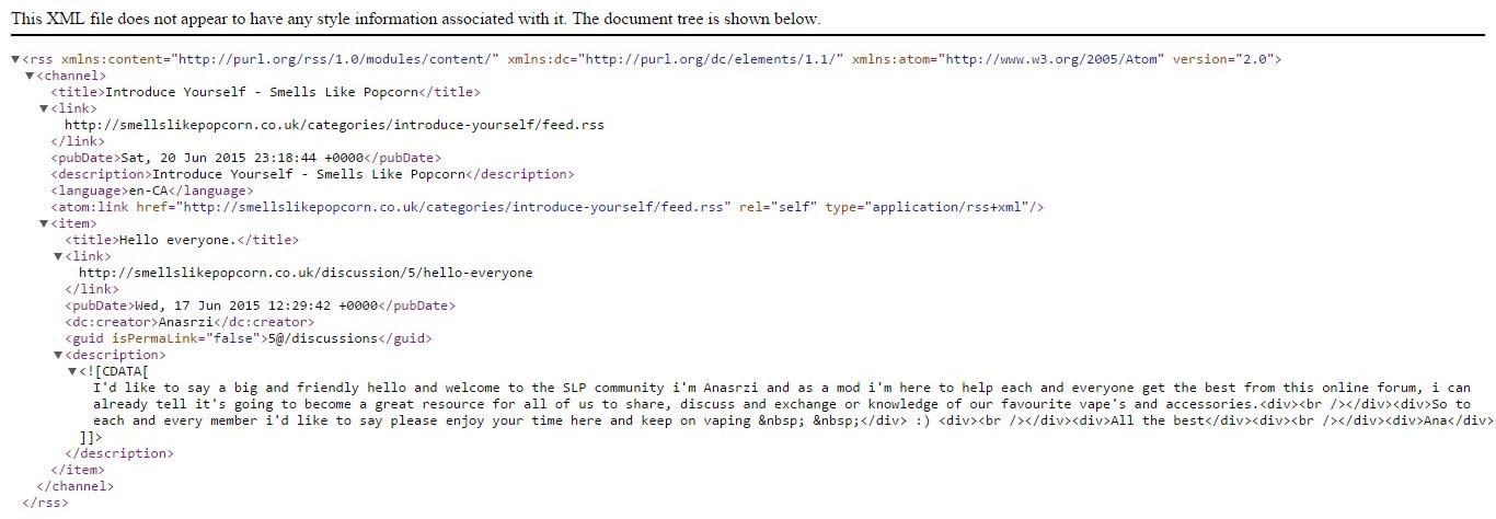 xml errors sitemaps rss feeds not working after update vanilla