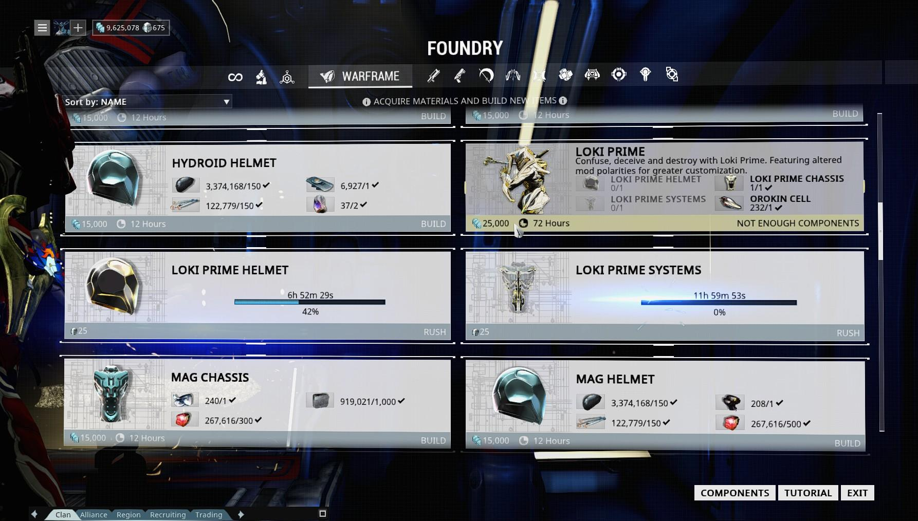 how to get frost prime blueprint