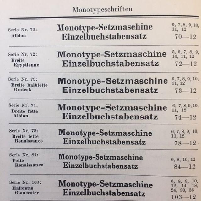 Monotype Series 72–74 — TypeDrawers