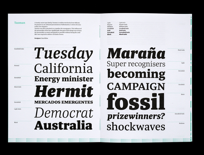 Type Foundries offering printed specimens — TypeDrawers