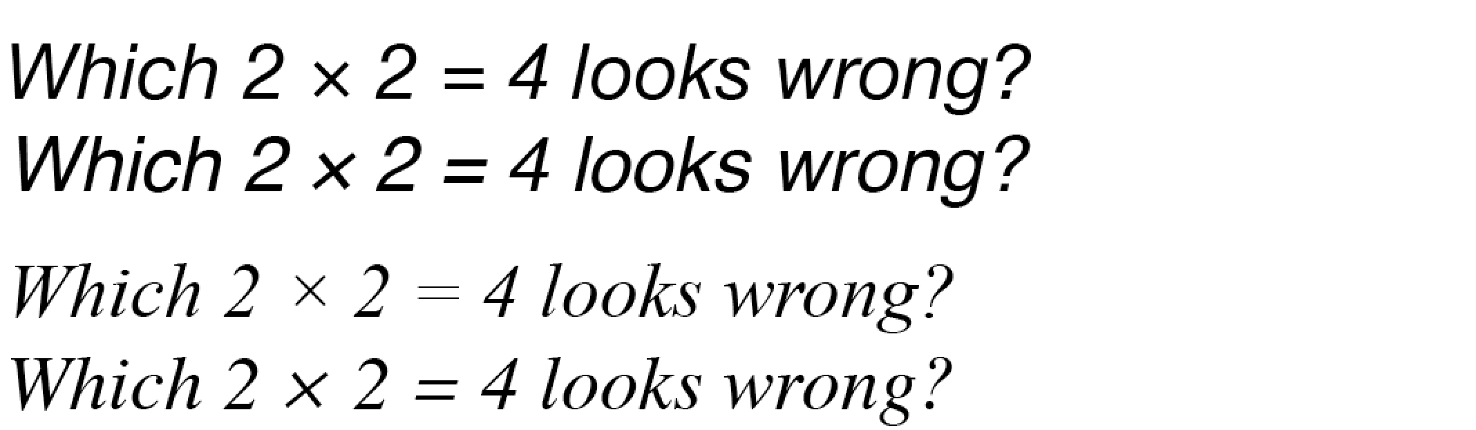Sloping math symbols in italic faces is it normal typedrawers operators1g 524k buycottarizona