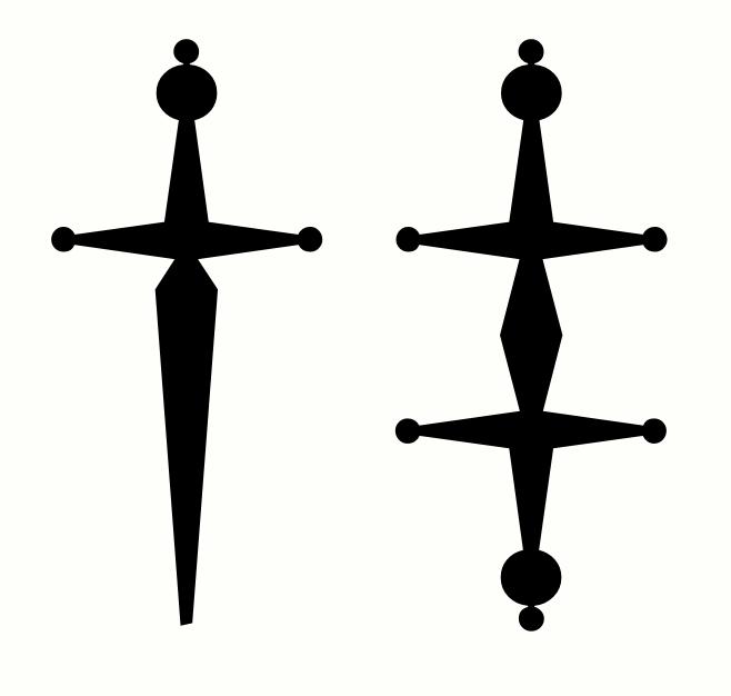 Dagger Symbol Design Typedrawers