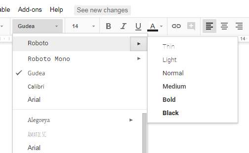 Google Docs problem — TypeDrawers