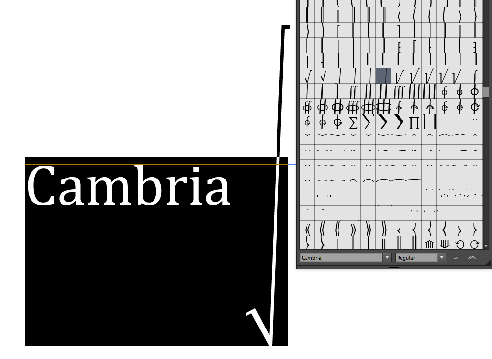 Cambria, highlight height — TypeDrawers