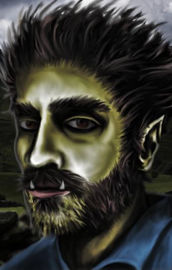 Half Orc Portrait Portrait of a H...