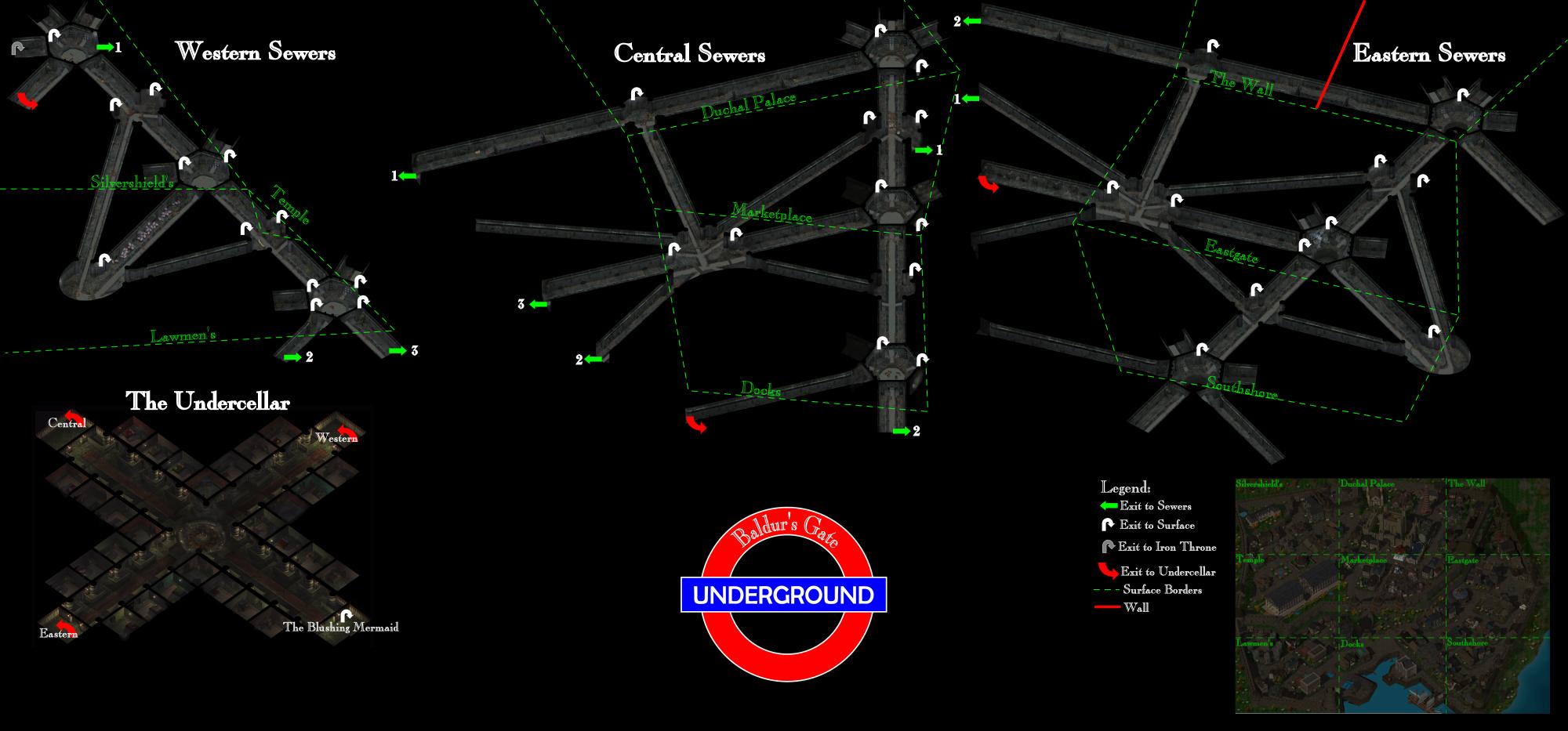 Map Of The Baldur S Gate Sewers Beamdog Forums