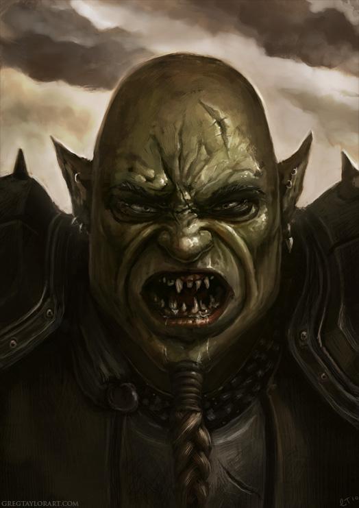 Half Orc Portrait Half-orc portra...