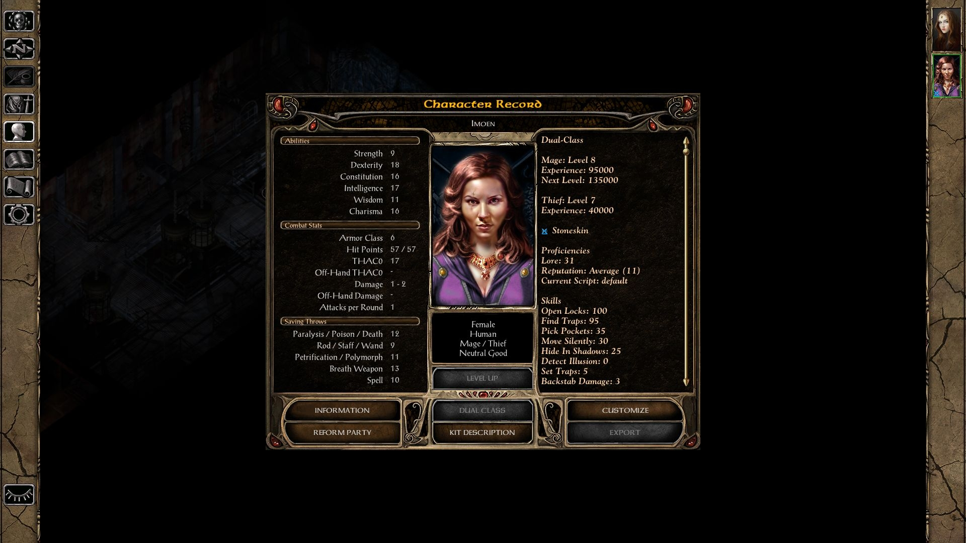 MOD] Lefreut's enhanced UI (for BG1EE, SoD, BG2EE and EET) — Beamdog