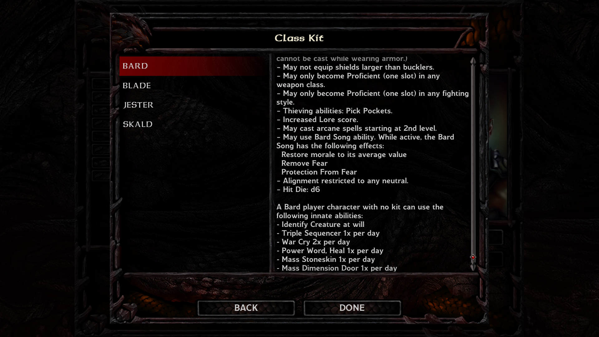järkevästi hinnoiteltu ensiluokkainen laaja valikoima MOD] High Power Baldur's Gate v2.2.2 - Page 4 — Beamdog Forums