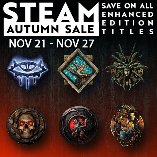 Beamdog com and Steam) Black Friday 2018 sale on IE EEs, SoD