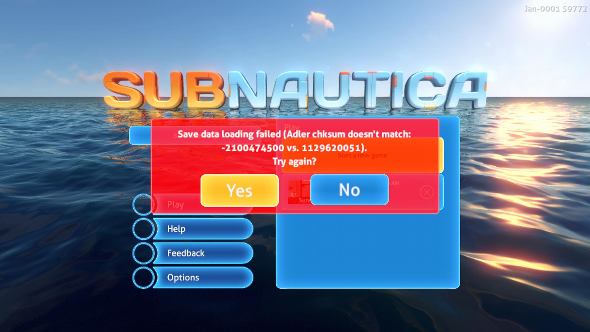 Subnautica Xbox Save/Load Hotfix - Subnautica
