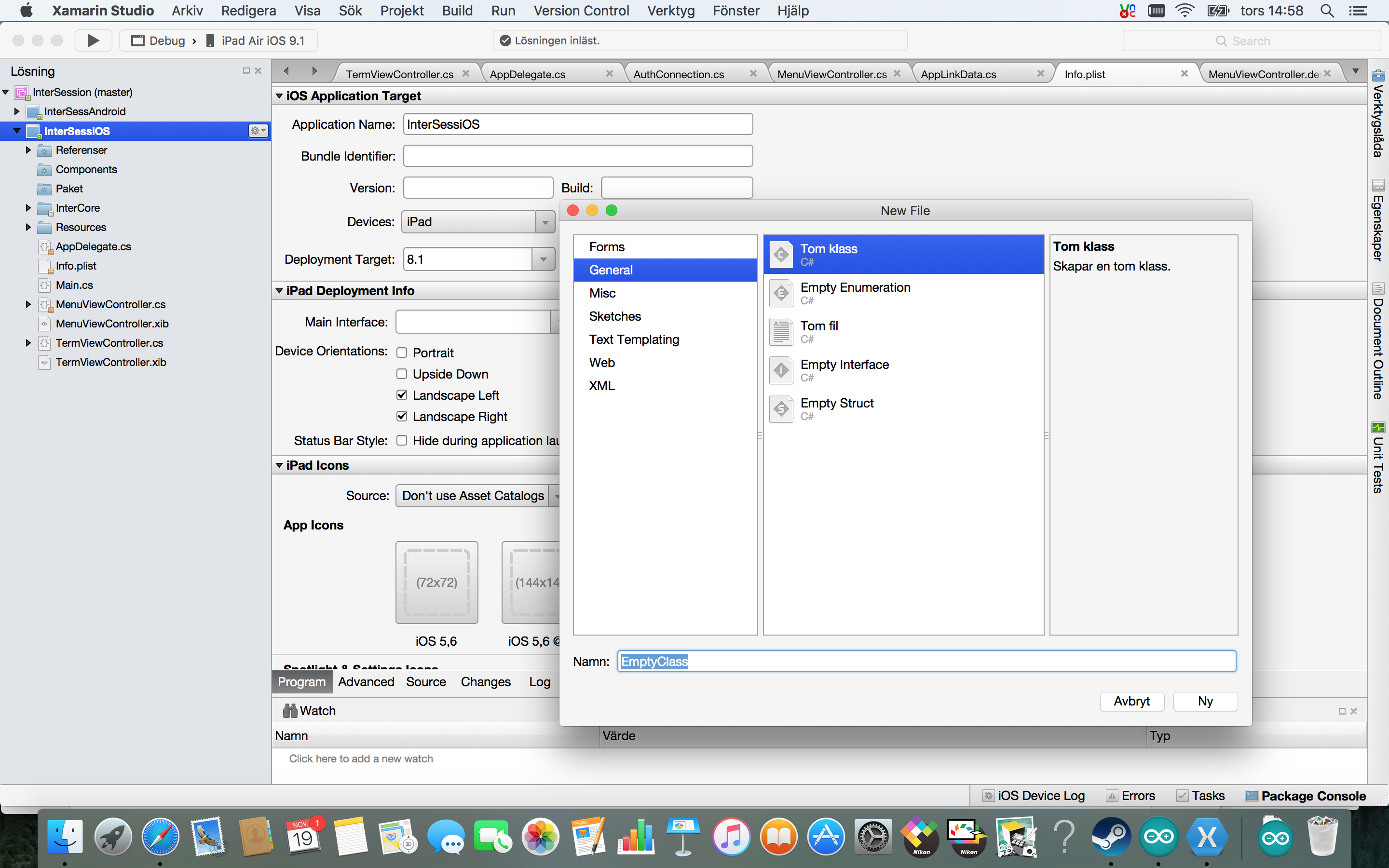 Cant find storyboard template file in xamarin menu to add to my x studio 2015 11 19g maxwellsz