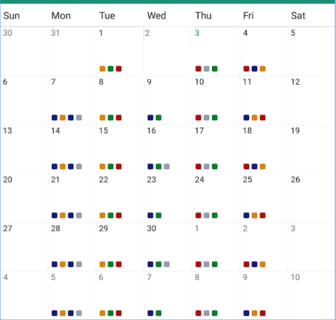 Calendar with appointment and task — Xamarin Community Forums