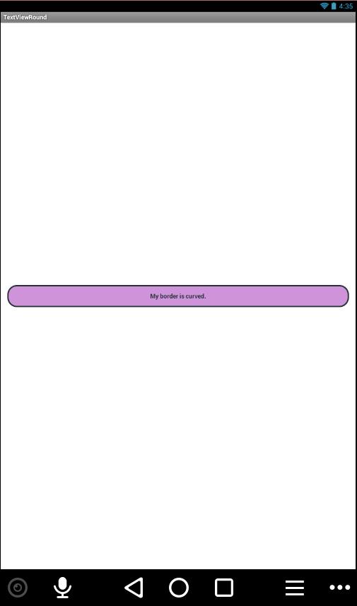 How can I change border radius ( round corners) of textview