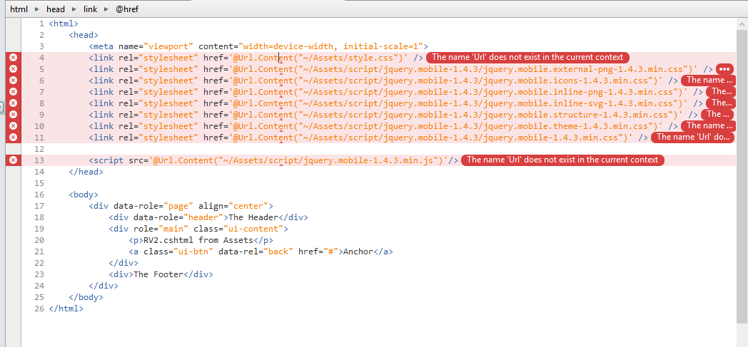 Library for using @Url Content in  cshtml file (Razor Views