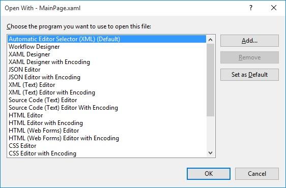 No Xamarin XAML Syntax Colorizing in Default Editor — Xamarin