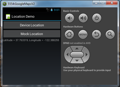 Tutorial - How to the use a mock Google Maps location