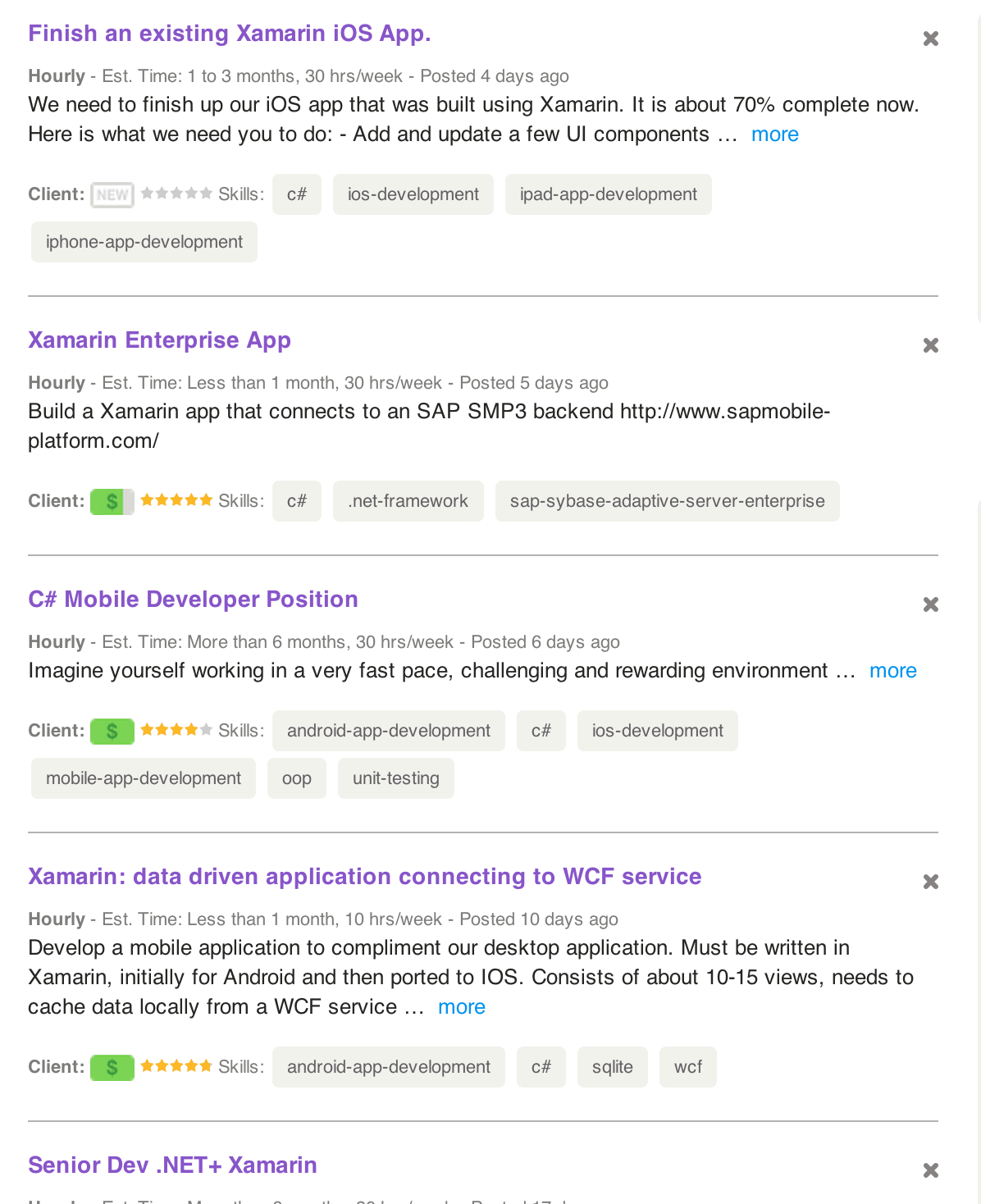 Why are there so few Xamarin jobs? — Xamarin Community Forums