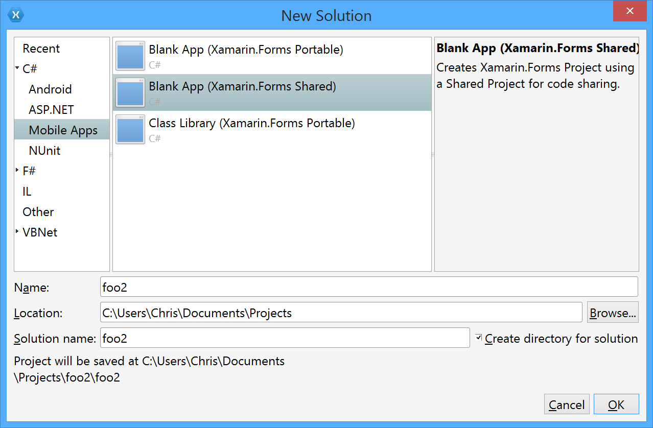 xamarin studio code templates - xamarin studio doesn 39 t produce an ios project from mobile