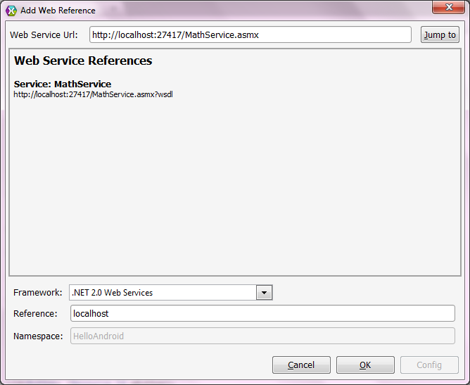 Web service creation and consumption in an Android app