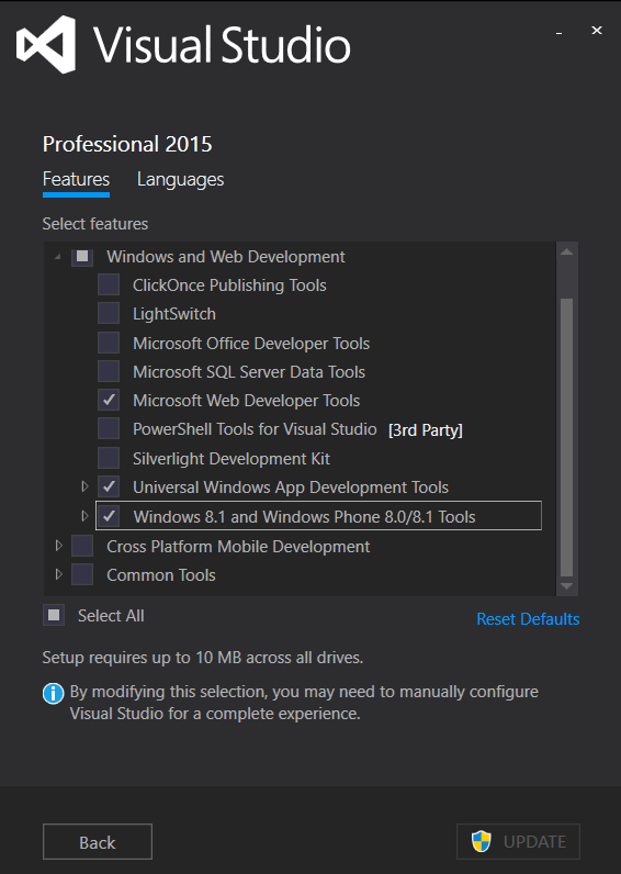 Visual Studio update r...