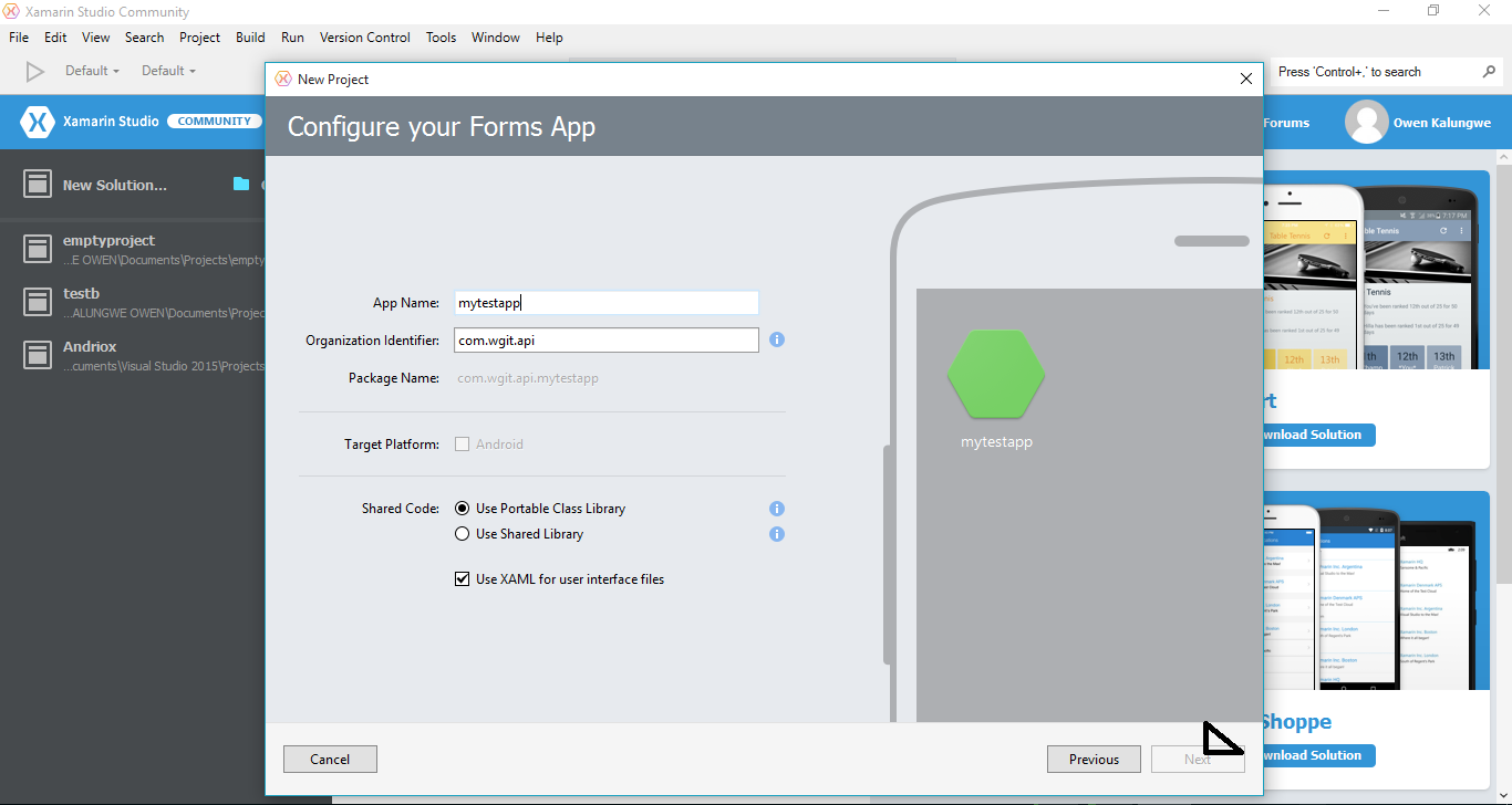 xamarin android get application name