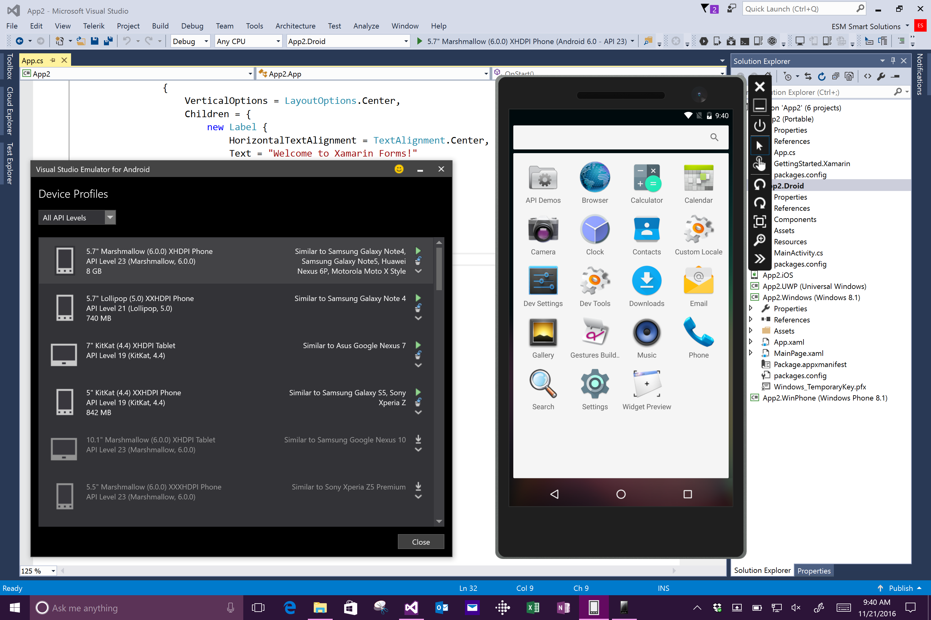 Android emulator opens, but project does not deploy and