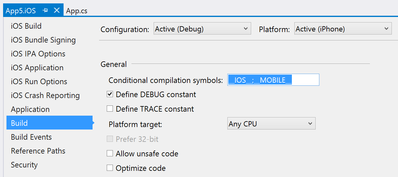 Vs Xamarinrms Shared Project Template Doesnt Provide A Ios