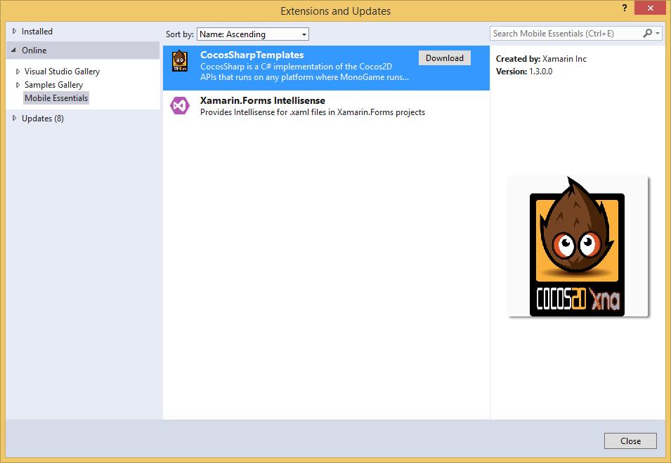 CocosSharp project templates for Visual Studio — Xamarin ...