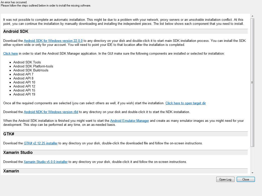Error downloading from Google Server  Andriod SDK — Xamarin