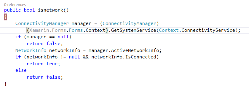 Check Internet connectivity — Xamarin Community Forums