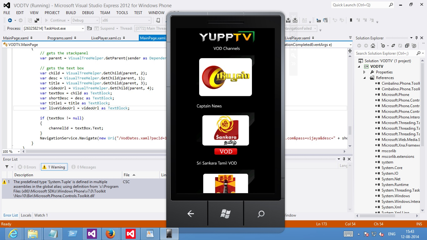 I want to Port my companys Android App to Windows Phone App Wp7 and