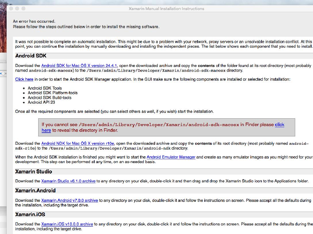 Unable to install Xamarin in mac! — Xamarin Community Forums