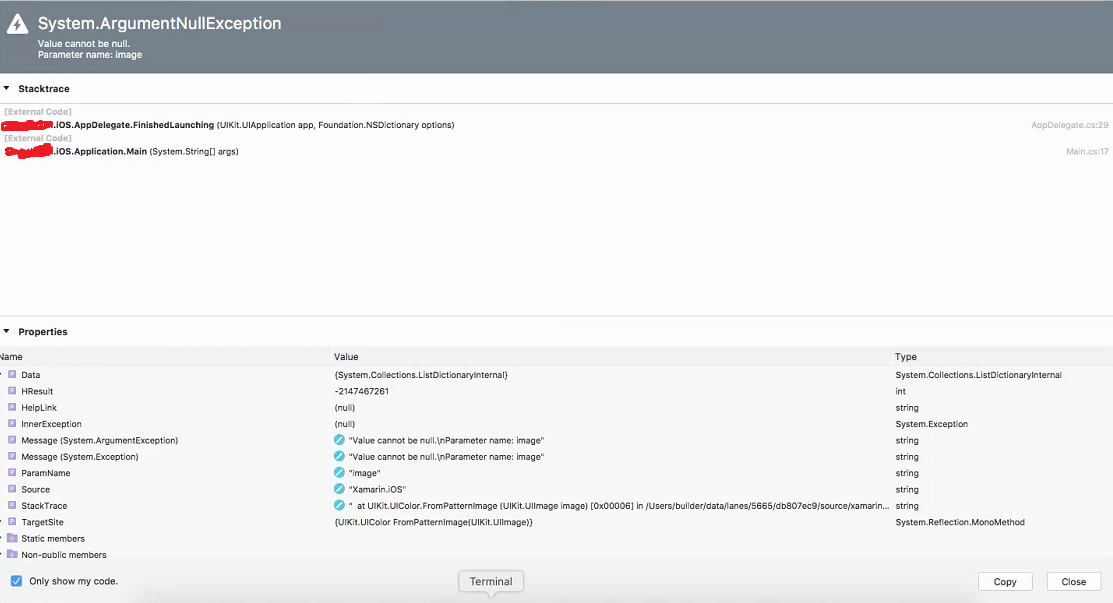 iOS] ArgumentNullException: Parameter name: image — Xamarin