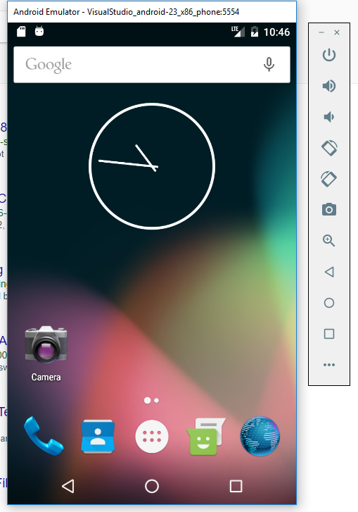 Why my emulator doesn't look like a phone? — Xamarin