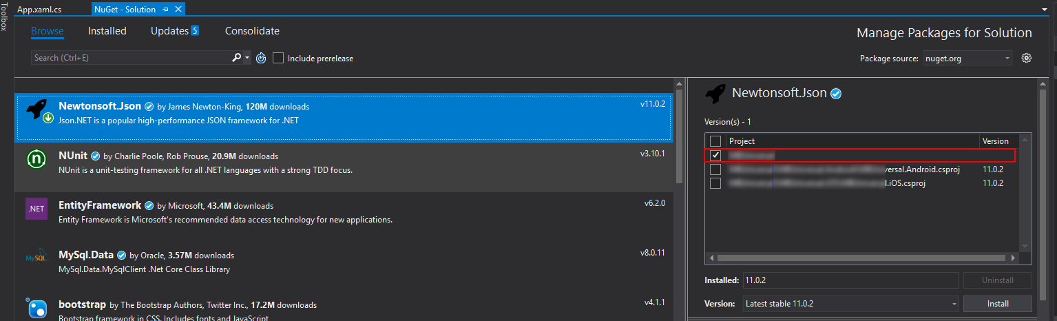 xamarin forms 3 0 - unable to add nuget package — Xamarin Community