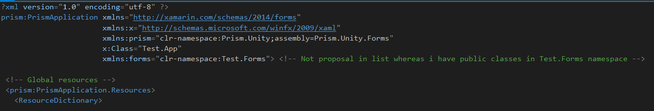 PRISM] Namespace not found between my projects — Xamarin
