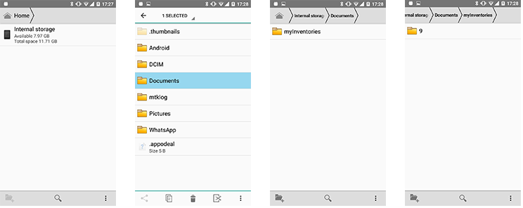 Create folder on InternalSystem for my app — Xamarin
