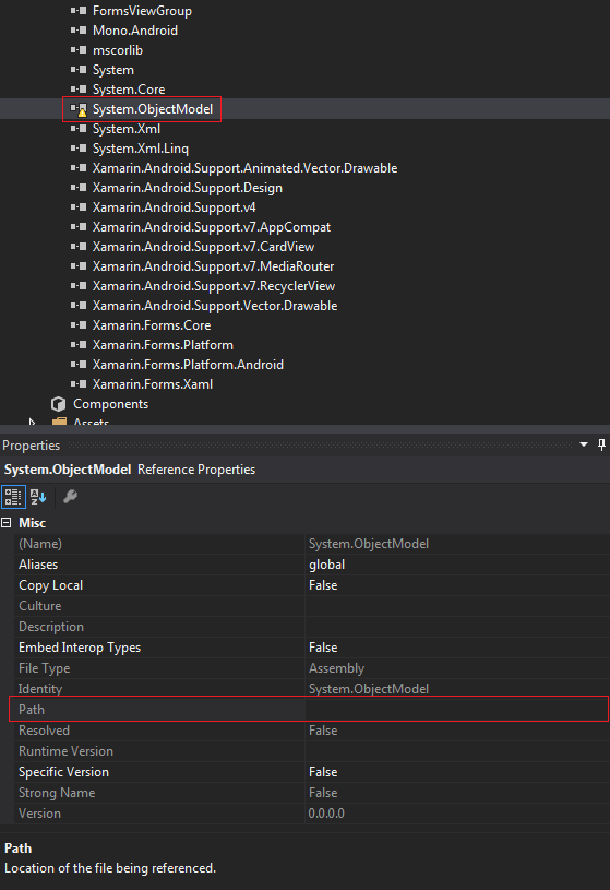 Xamarin Android Support v7 AppCompat 25 1 1' is not