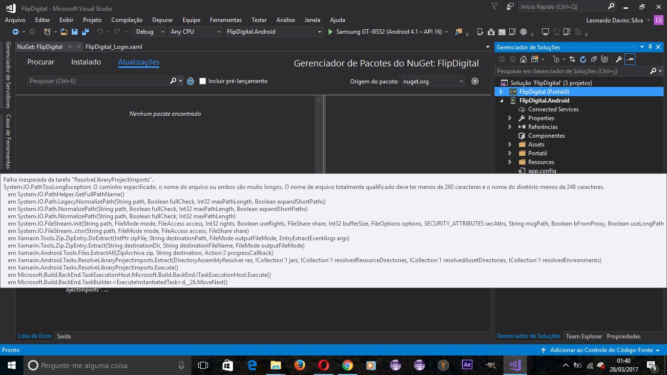 Visual Studio  Microsoft Build Tasks V  Error