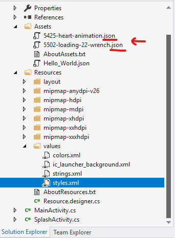 Getting Lottie Animation to work in Xamarin Android (native