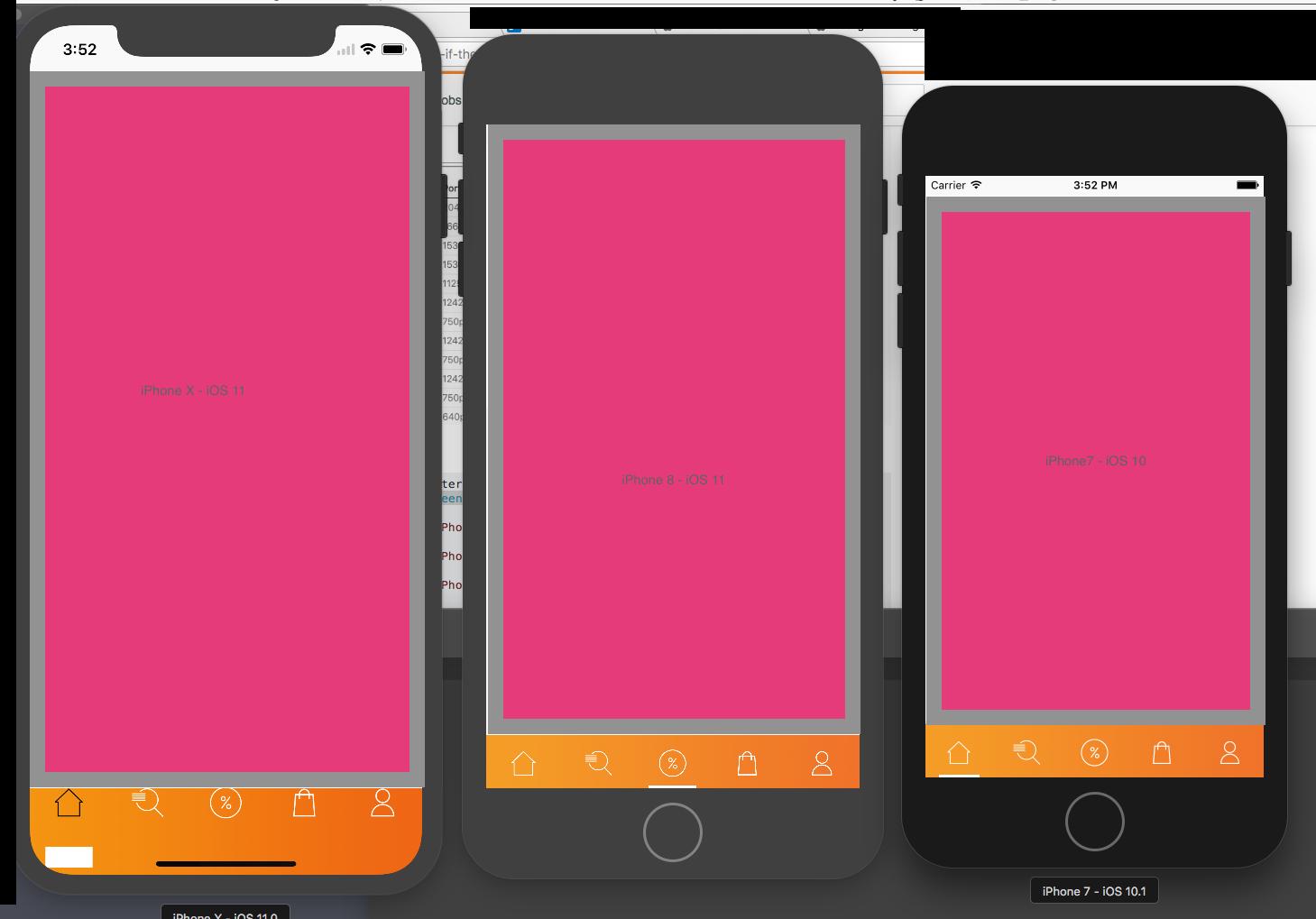 iPhone X, iOS 11 - Tabbar Background — Xamarin Community Forums