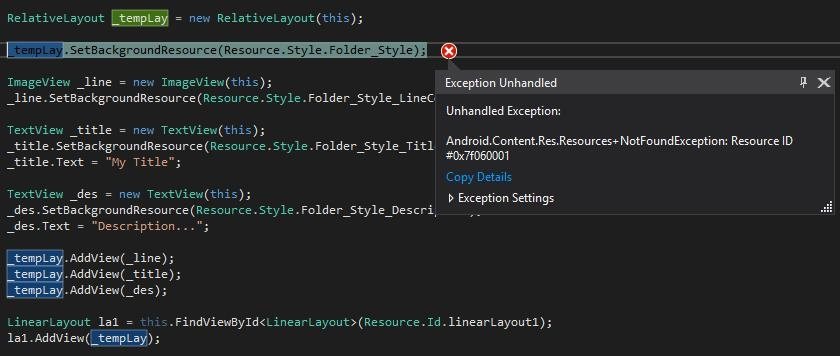How to add style for dynamic layout — Xamarin Community Forums