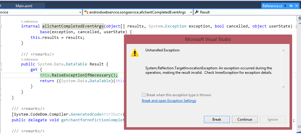 Error When Get Result type DataTable form Web Service(ASMX