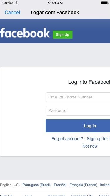 Login webview facebook logo/fbfordevelopers