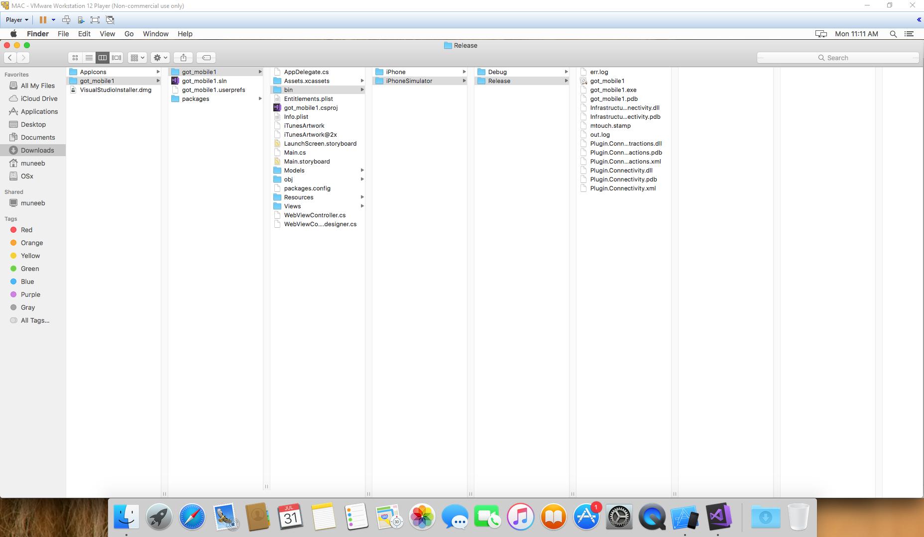 unable to create ipa file visual studio for MAC — Xamarin