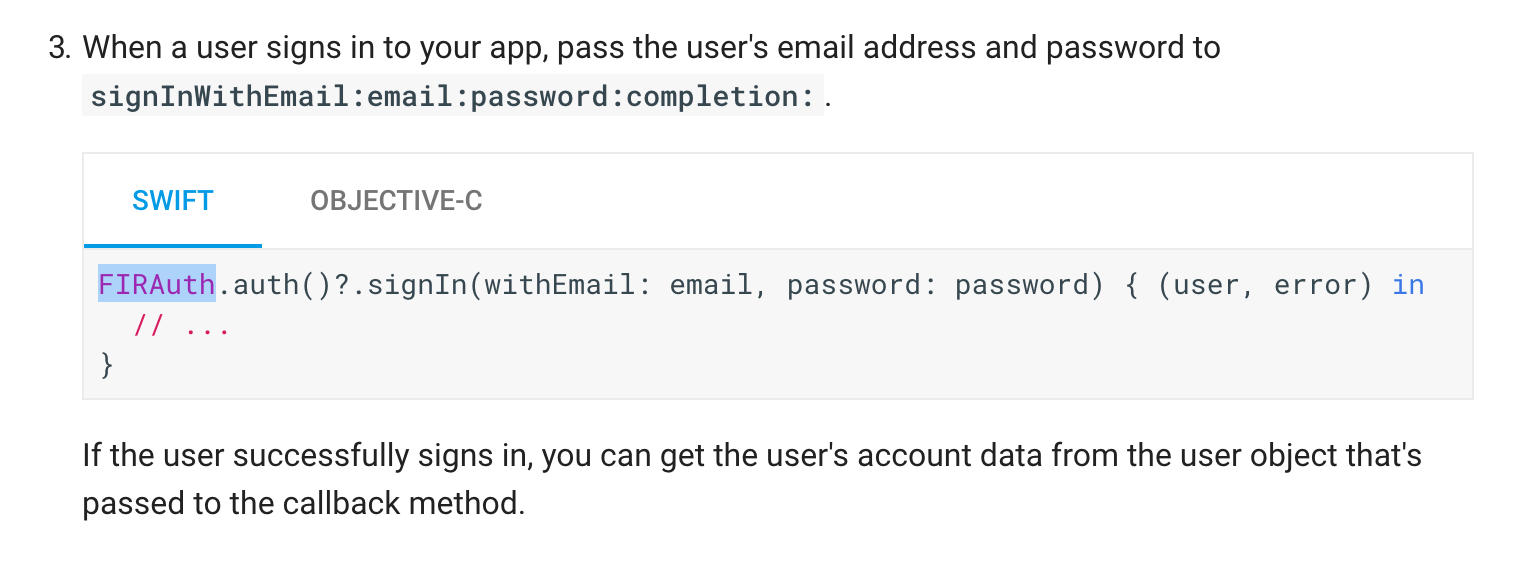 Firebase, how to login with email and password — Xamarin Community