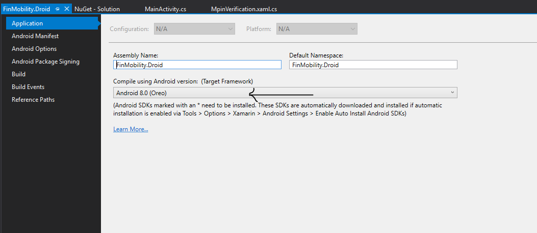 How to update Mono Android version to resolve dependancies