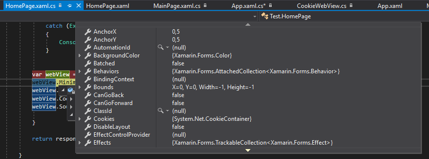 Setting Cookies in a WebView — Xamarin Community Forums