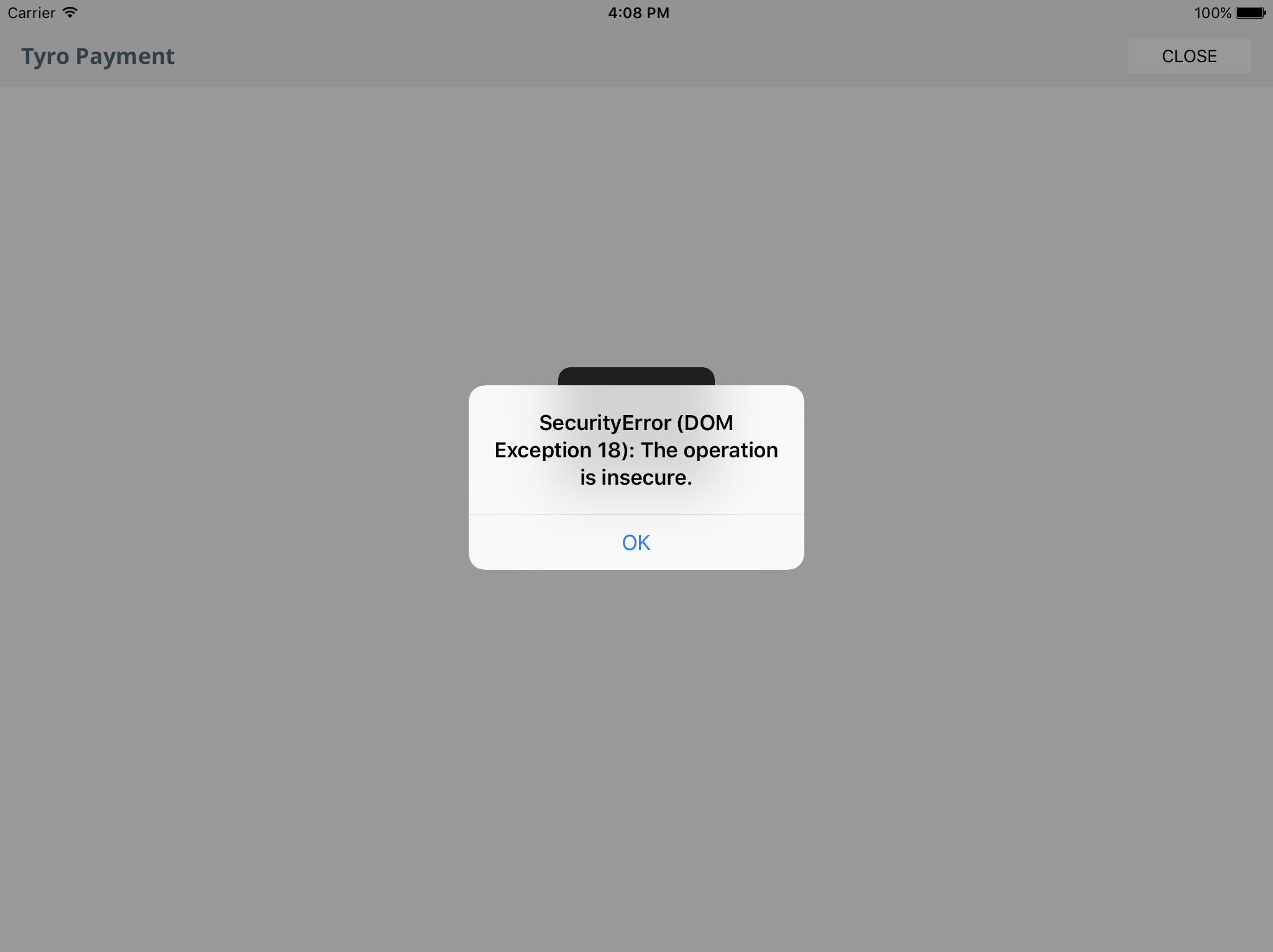 "Getting error ""SecurityError (DOM Exception 18): The"